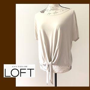Loft Off White Top